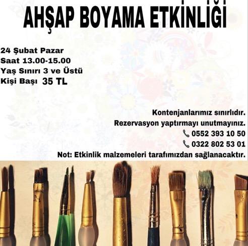 Ahsap Boyama Etkinligi Adana Da Cocuk Olmak