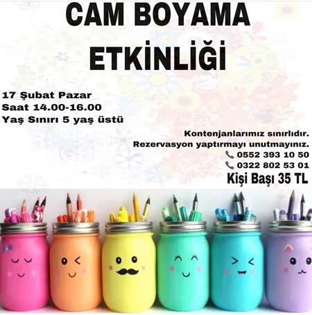 Cam Boyama Etkinligi Adana Da Cocuk Olmak